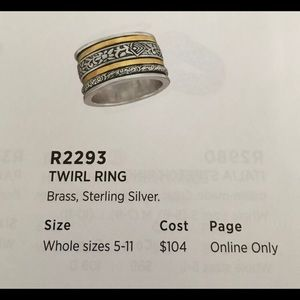 Beautiful Silpada  Ring